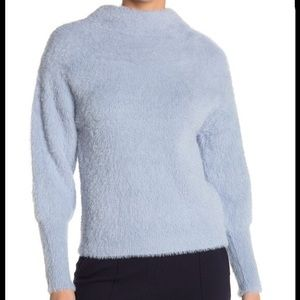 Catherine Malandrino Eyelash Knit Mock Neck Sweate